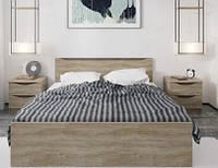 Ліжко двоспальне Gerbor Смайл+ламель 160х200 дуб бруніко