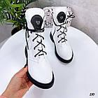 Демісезонні жіночі білі черевики, натуральна шкіра, фото 7