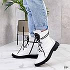 Демісезонні жіночі білі черевики, натуральна шкіра, фото 2