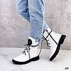 Демісезонні жіночі білі черевики, натуральна шкіра, фото 5