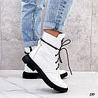 Демісезонні жіночі білі черевики, натуральна шкіра, фото 6