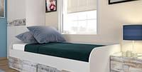 Ліжко односпальне (+ вклад) Памп 90 90х200 білий/кантрі лейбл