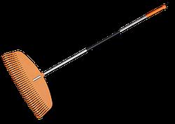 Грабли пластиковые TQ, 35 зубцов, с алюминиевым  черенком, TQ-G35TA