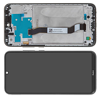 Дисплей для Xiaomi Redmi Note 8 модуль в сборе с тачскрином, черный, с рамкой, Original