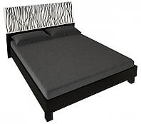 Ліжко двоспальне MiroMark Терра + каркас 180х200 чорний/білий глянець, фото 1