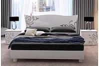 Ліжко двоспальне MiroMark Богема + каркас 160х200 білий глянець