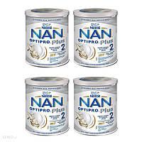 NESTLE NAN OPTIPRO Plus 2 HM-O модифіковане молоко для немовлят старше 6 місяців 4x800г, фото 1
