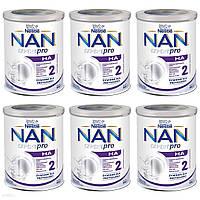 NESTLE NAN Expert Pro HA 2 Модифіковане молоко для немовлят старше 6 місяців 6x800г, фото 1