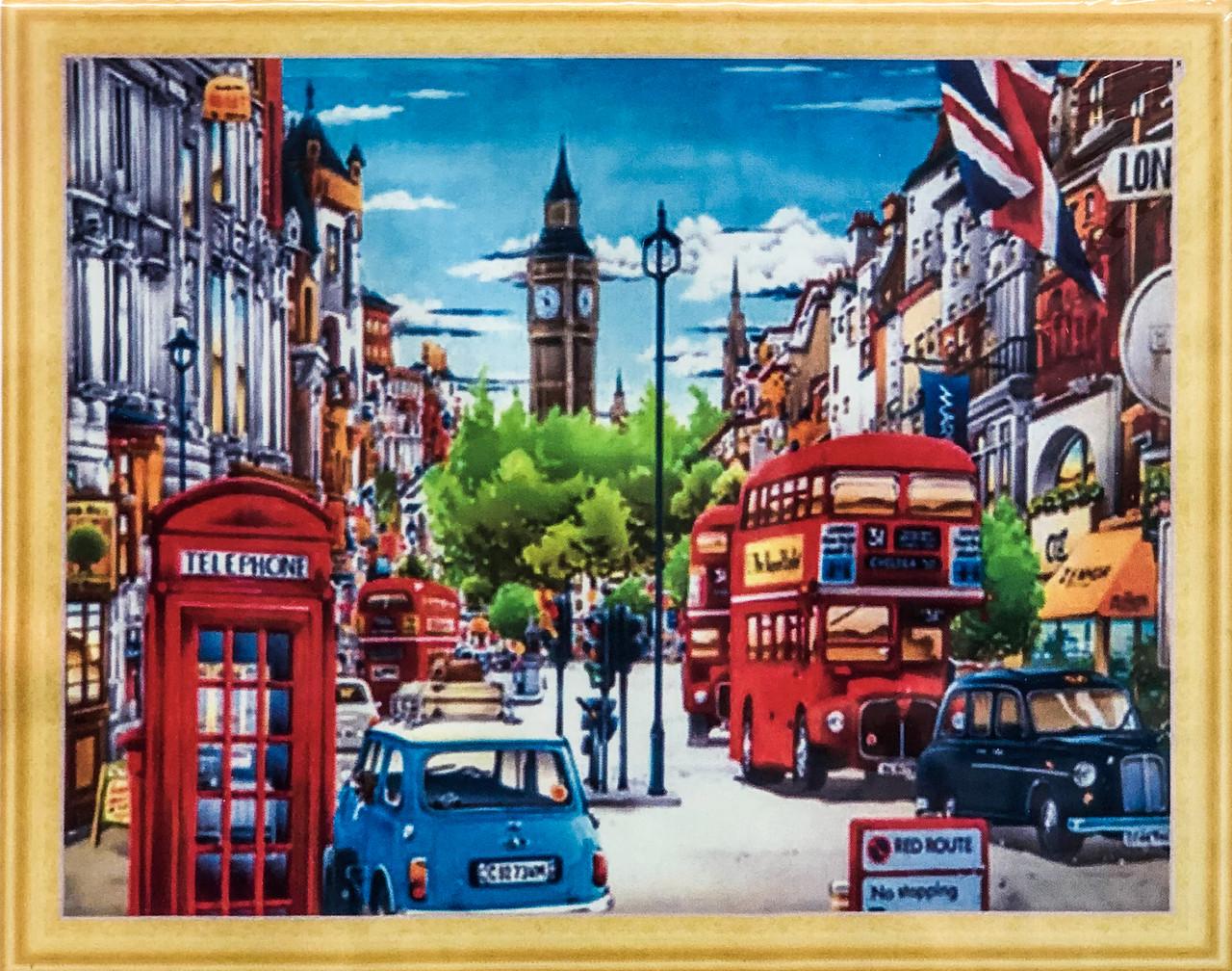 """Алмазна Мозаїка на підрамнику . Набір алмазної вишивки на підрамнику """"Великобританія"""". Розмір 50*40 див."""