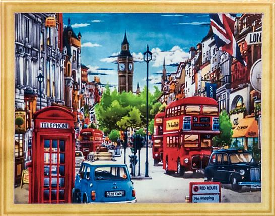 """Алмазна Мозаїка на підрамнику . Набір алмазної вишивки на підрамнику """"Великобританія"""". Розмір 50*40 див., фото 2"""