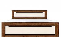 Ліжко двоспальне Gerbor Еріка + ламель 160х200 дуб техас\світло-сірий софт тач, фото 1