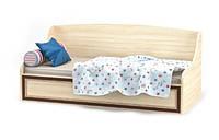 Ліжко-тапчан односпальне Мебель-Сервіс Дісней + каркас 90х200 дуб світлий, фото 1