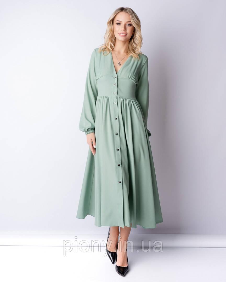 Женское Платье на пуговицах