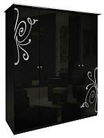 Шафа MiroMark Богема 4Д 184х212,5х63 чорний глянець, фото 1