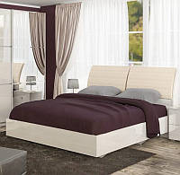 Ліжко двоспальне Меблі-Сервіс Лондон + ламель 160х200 крослайн лате\лак, фото 1