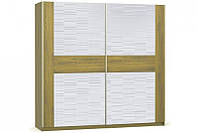 Шафа-купе Меблі-Сервіс Фієста 225,6х217,3х62,2 золотий дуб\білий лак