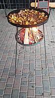 Сковорода из диска бороны 50 см с подставкой для разведения огня (садж), фото 2