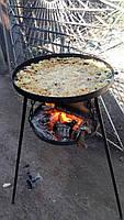 Сковорода из диска бороны 50 см с подставкой для разведения огня (садж), фото 9