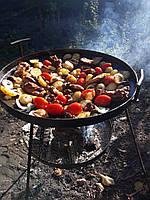 Сковорода из диска бороны 50 см с подставкой для разведения огня (садж), фото 3
