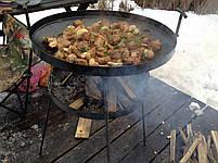 Сковорода из диска бороны 50 см с подставкой для разведения огня (садж), фото 6