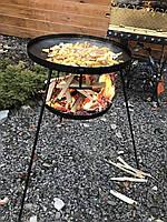 Сковорода из диска бороны 50 см с подставкой для разведения огня (садж), фото 7
