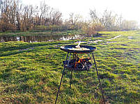 Сковорода из диска бороны 50 см с подставкой для разведения огня (садж), фото 10