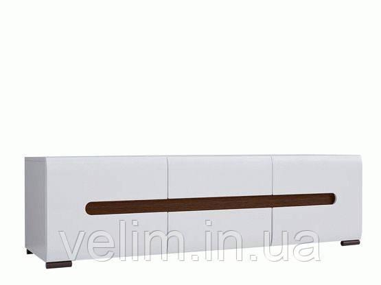 Тумба під ТВ BRW Ацтека 2D2S/4/15 150х43х47 білий/білий глянець