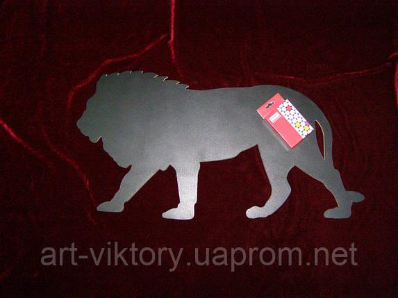 Меловая доска Лев (30 х 59), декор, фото 2