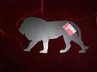 Меловая доска Лев (30 х 59), декор