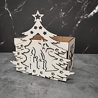 Оригинальная новогодняя корзинка коробка для подарков.