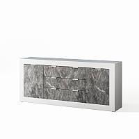 Комод Світ Меблів Прага 2.0 200×89×40 білий/індастріал, фото 1