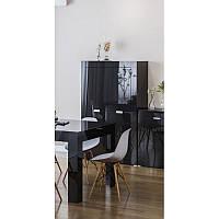 Шафа пенал Світ Меблів Прага 4Д 99.6×160×40 чорний лак, фото 1