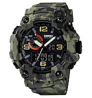 Skmei 1520  камуфляж зеленый мужские спортивные часы, фото 1