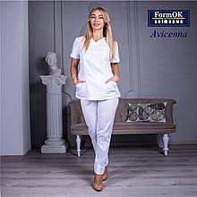 Женские медицинские костюмы Avicenna белый 46
