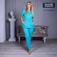 Женские медицинские костюмы Avicenna мятный 50