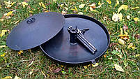 Сковорода из диска бороны 50 см с отверстием для быстрого приготовления, фото 5