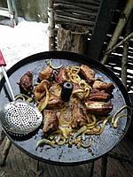 Сковорода из диска бороны 50 см с отверстием для быстрого приготовления, фото 6