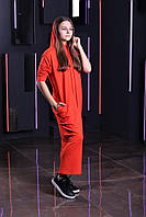 Стильное платье двунитка с капюшоном  от производителя 134-164р