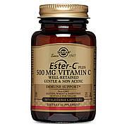 Витамин С 500 мг, Ester-C Ascorbate Complex, Solgar, 50 гелевых капсул