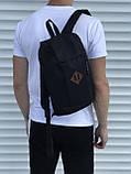 Чорний спортивний рюкзак велосипедка, фото 2