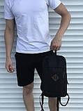 Чорний спортивний рюкзак велосипедка, фото 3