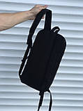Чорний спортивний рюкзак велосипедка, фото 4