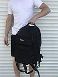 Большой тактический рюкзак 45 литров черный, фото 4