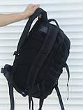 Большой тактический рюкзак 45 литров черный, фото 5