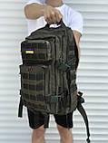 Якісний рюкзак чоловічий, хакі 25 літрів, фото 2