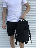 Тактичний чорний рюкзак 25 літрів, фото 3