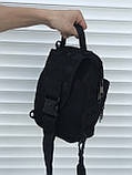 Тактическая черная сумка на плечо, фото 2