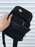 Тактическая черная сумка на плечо, фото 4