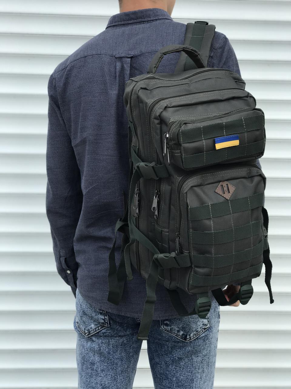 Тактичний рюкзак зеленого кольору на 25 літрів