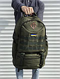 Тактичний чоловічий рюкзак на 40 літрів, зелений, фото 3